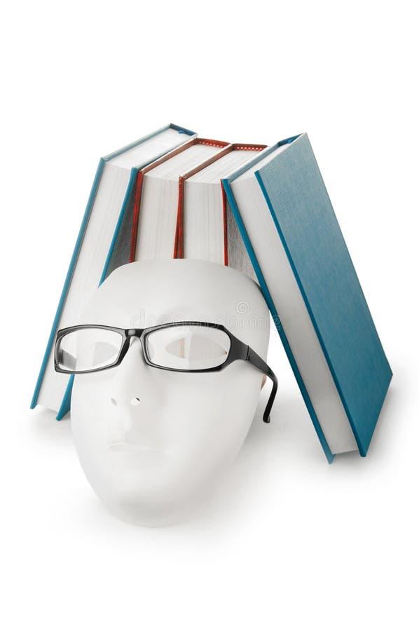 books att läsa för begreppsexponeringsglasmaskeringar royaltyfria foton