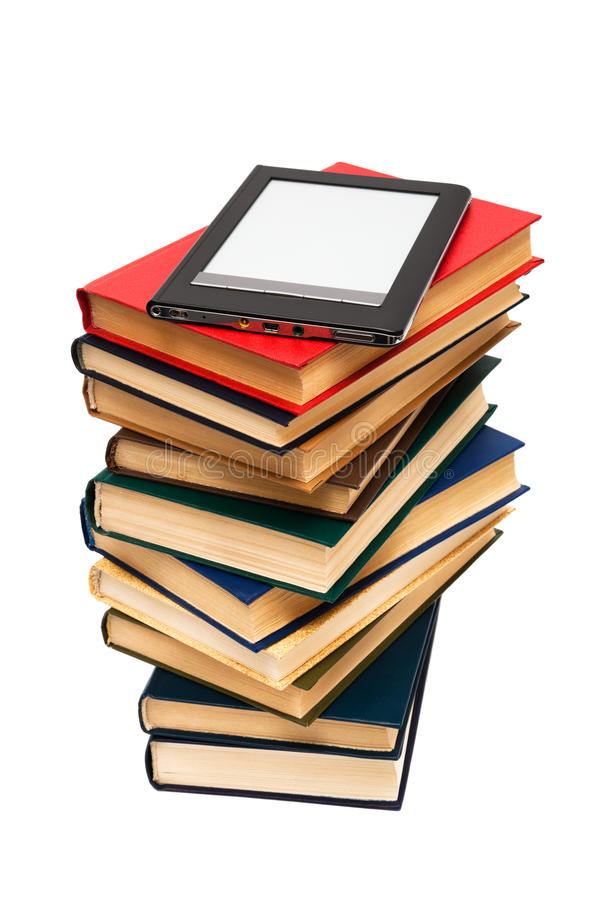 books avläsaren royaltyfria foton