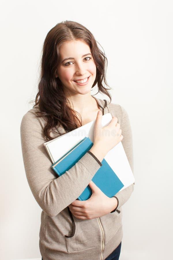 books barn för kvinnlig deltagare arkivfoton