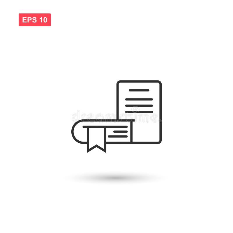Books bookmark icon vector design isolated 2 royalty free illustration
