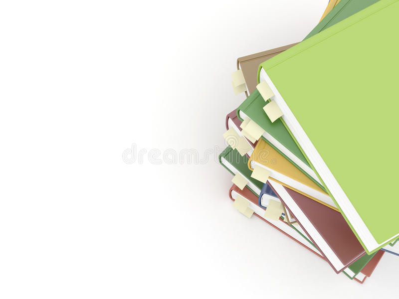 Download Books with bookmarks stock illustration. Illustration of up - 32221678