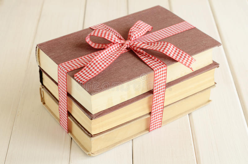 Download Books Bounded Up In Red Ribbon Stock Image - Image: 27936113