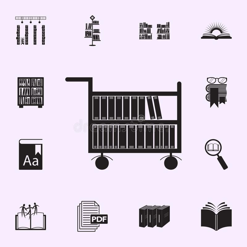 Library icon set stock vector  Illustration of reading
