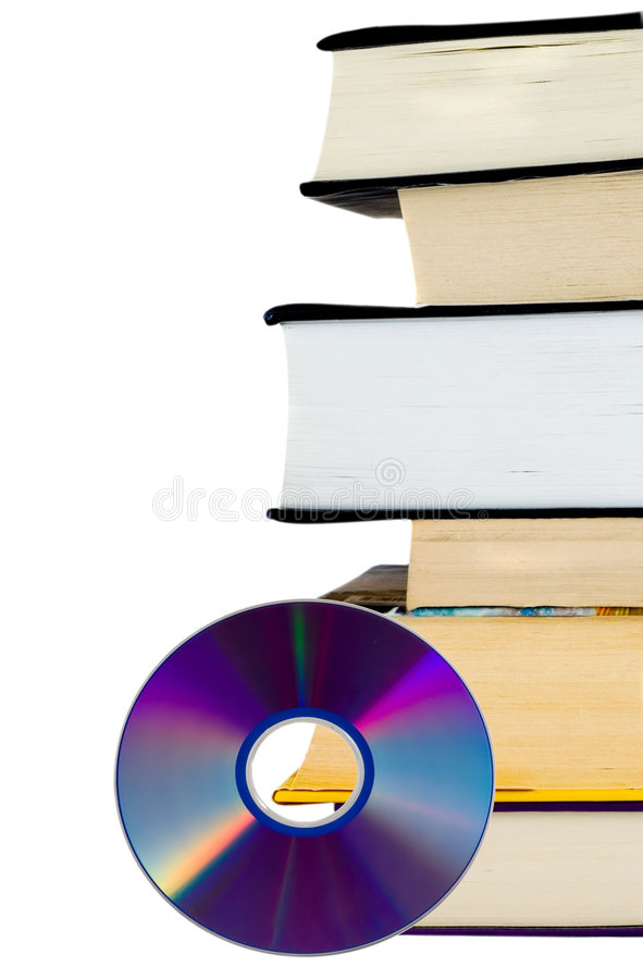 Books and CD royalty free stock photo