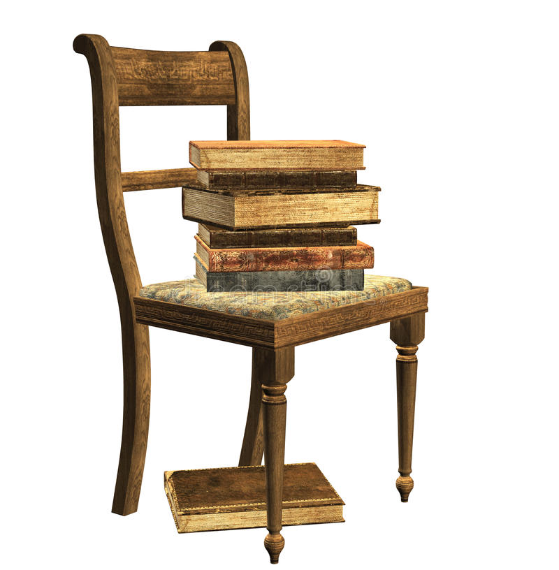 Download Books on chair stock illustration. Illustration of isolated - 22133947