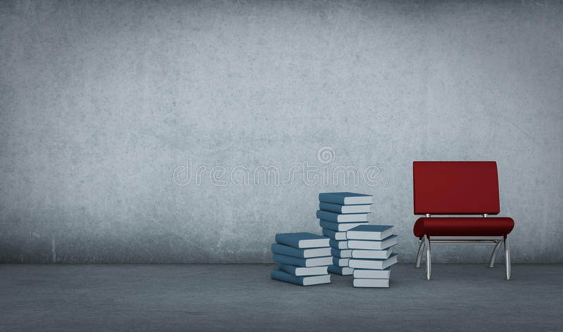 Books And Chair Stock Image