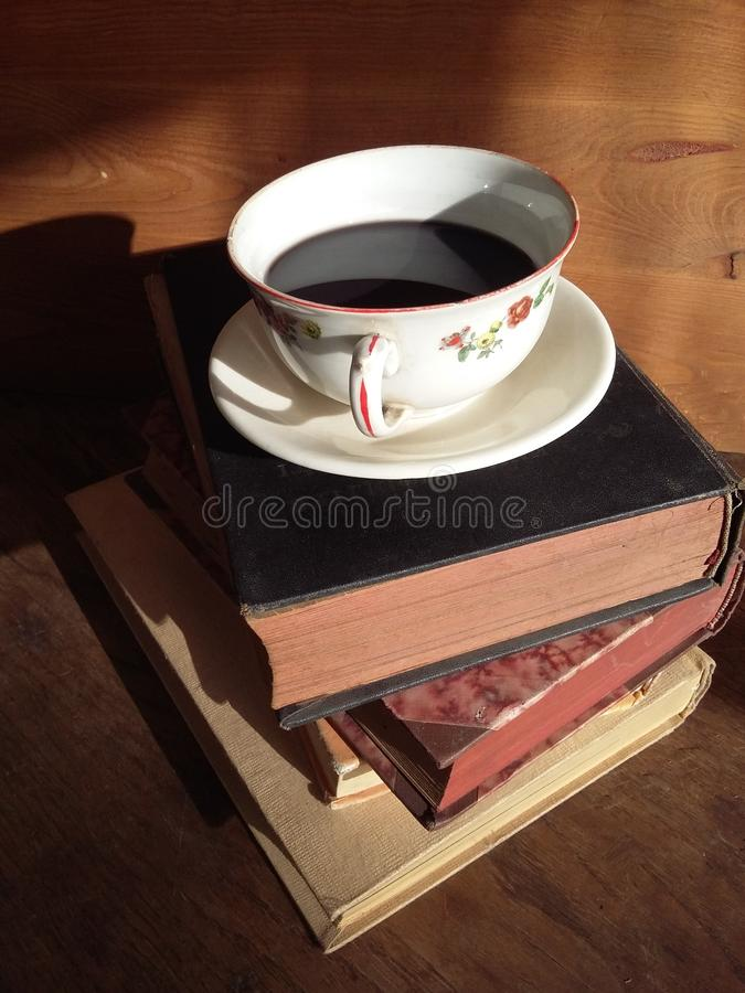 Books and Coffee royalty free stock photos