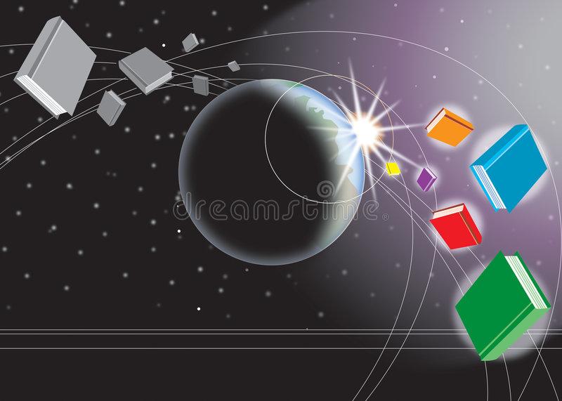Download Books in color space stock vector. Illustration of books - 307542