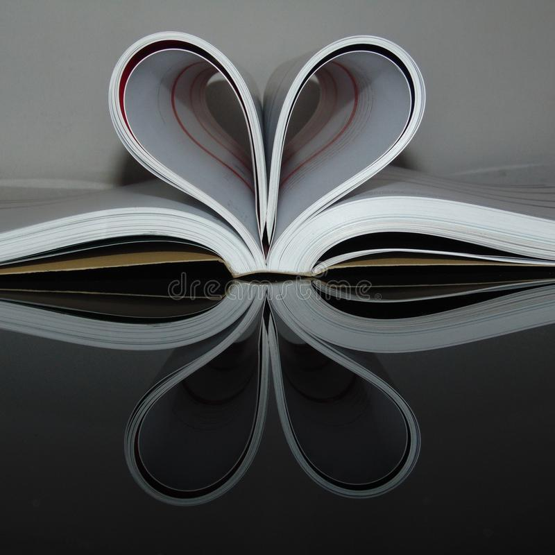 Books Creative love hearts royalty free stock image