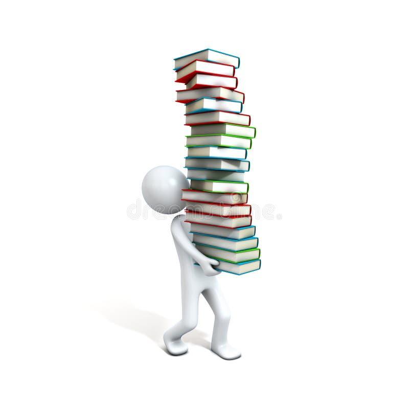 books den bärande personen stock illustrationer