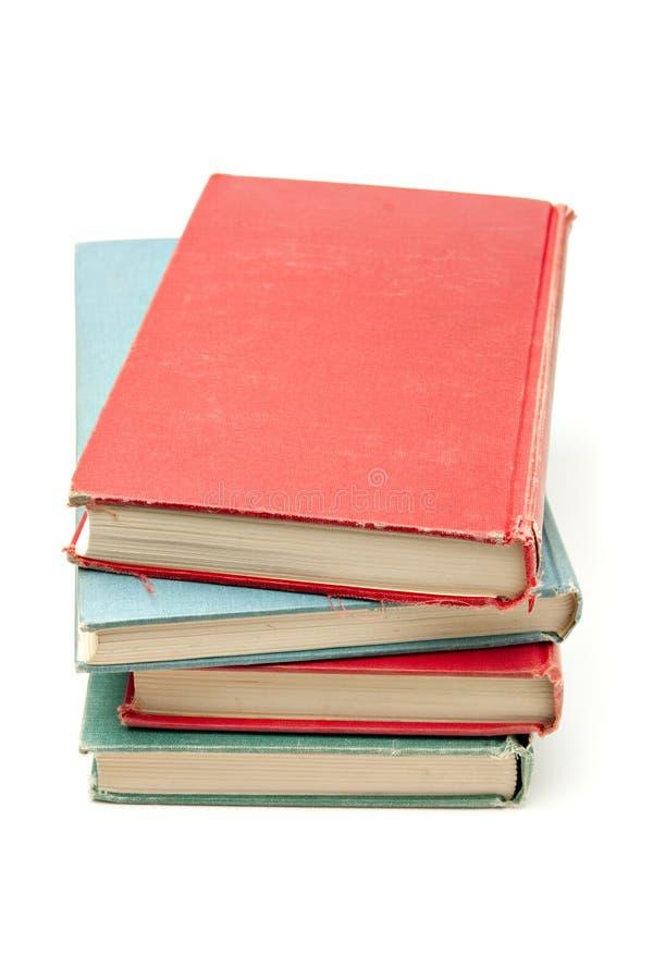 books den färgrika stapeln fotografering för bildbyråer