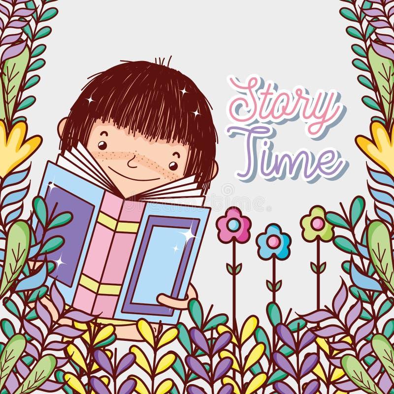 books den gulliga flickan stock illustrationer