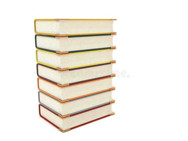 books dimensionell pileup tre arkivbild