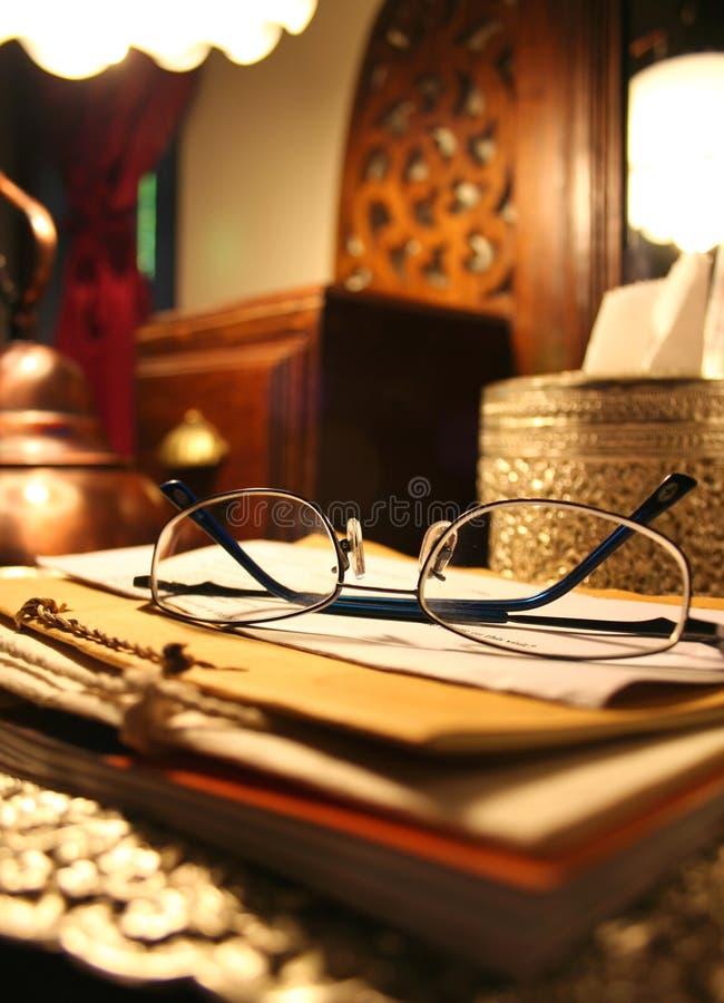 books exponeringsglasstapeln royaltyfri fotografi