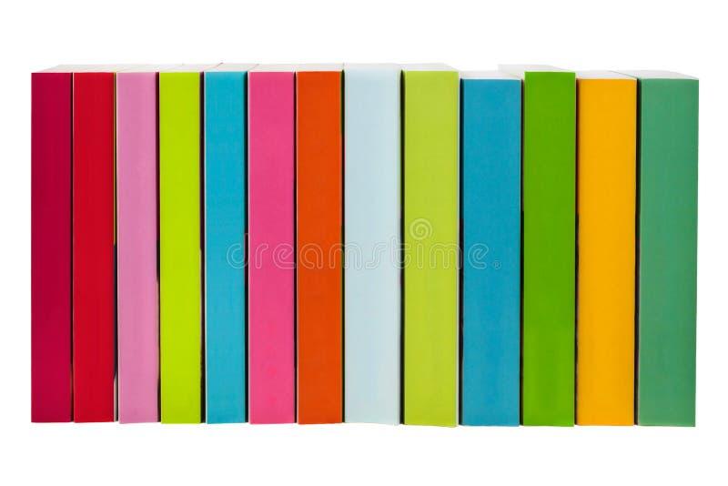 books färgrik isolerad white arkivbild