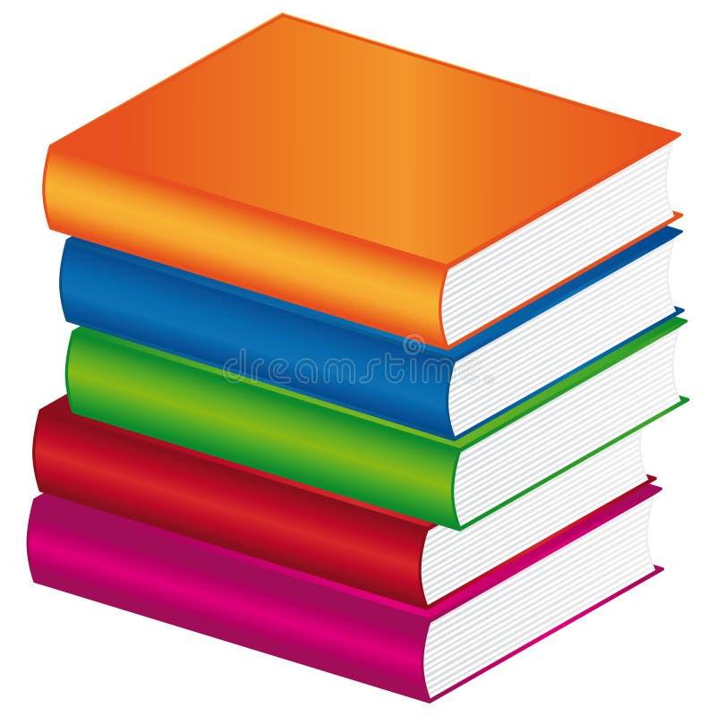 books färgrikt stock illustrationer