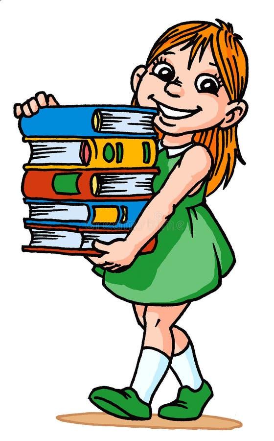 books flickan vektor illustrationer