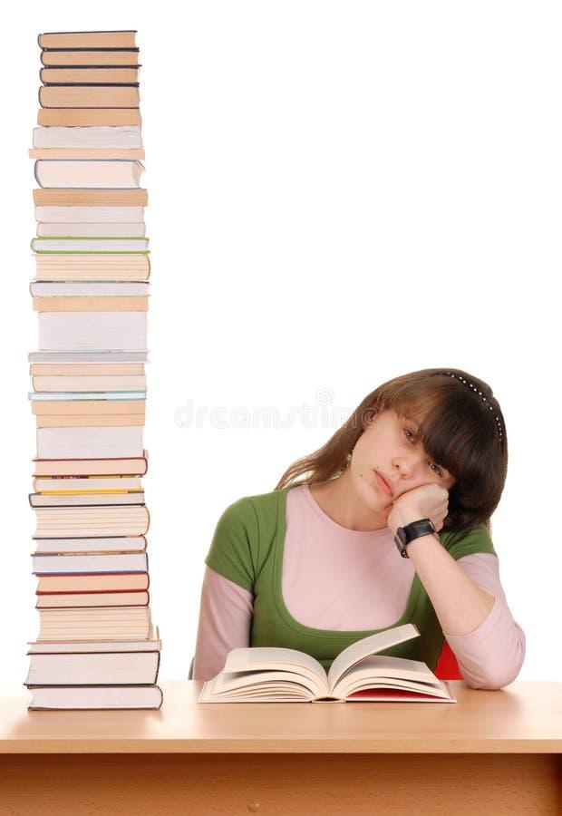 books flickan royaltyfria bilder