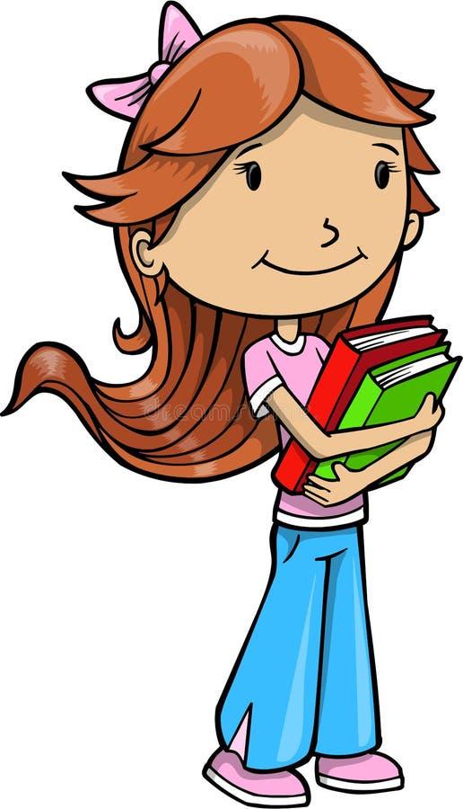 books flickavektorn royaltyfri illustrationer