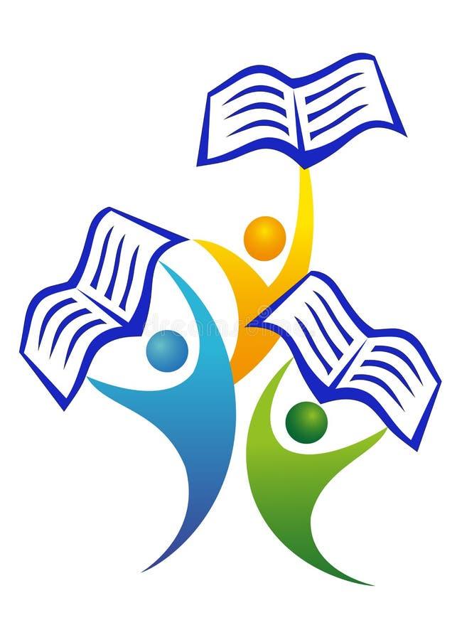 books folk royaltyfri illustrationer