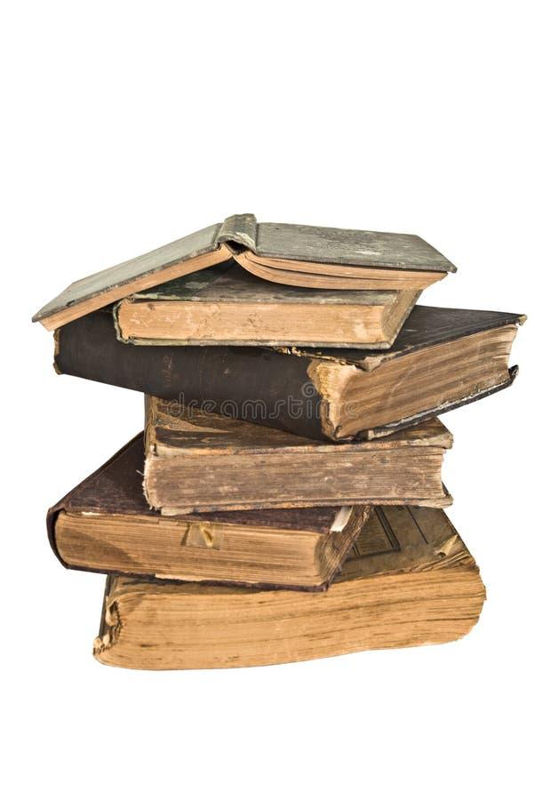 books gammal bunttappning royaltyfri fotografi