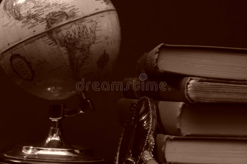 Books and Globes I royalty free stock images