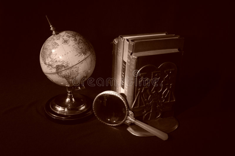 Download Books and Globes IV stock photo. Image of bookend, text - 1953292