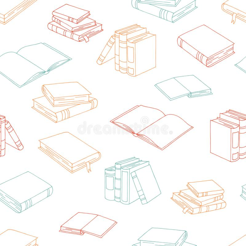 Books graphic color seamless pattern background sketch illustration vector. Books graphic color seamless pattern background sketch illustration stock illustration
