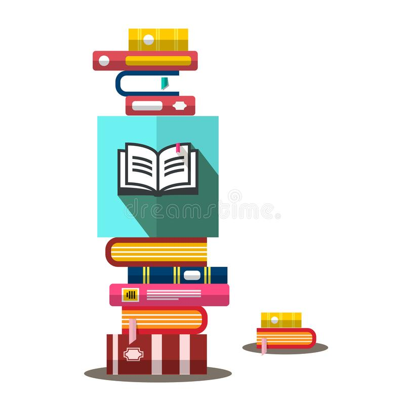 Books Heap in Bookstore Vector Book Illustration. Books Heap in Bookstore. Vector Book Illustration stock illustration