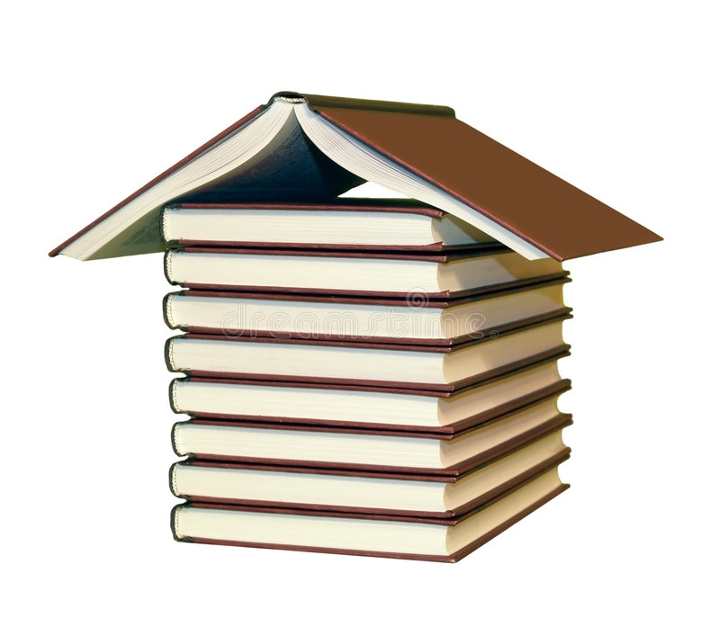 Books house royalty free stock photography