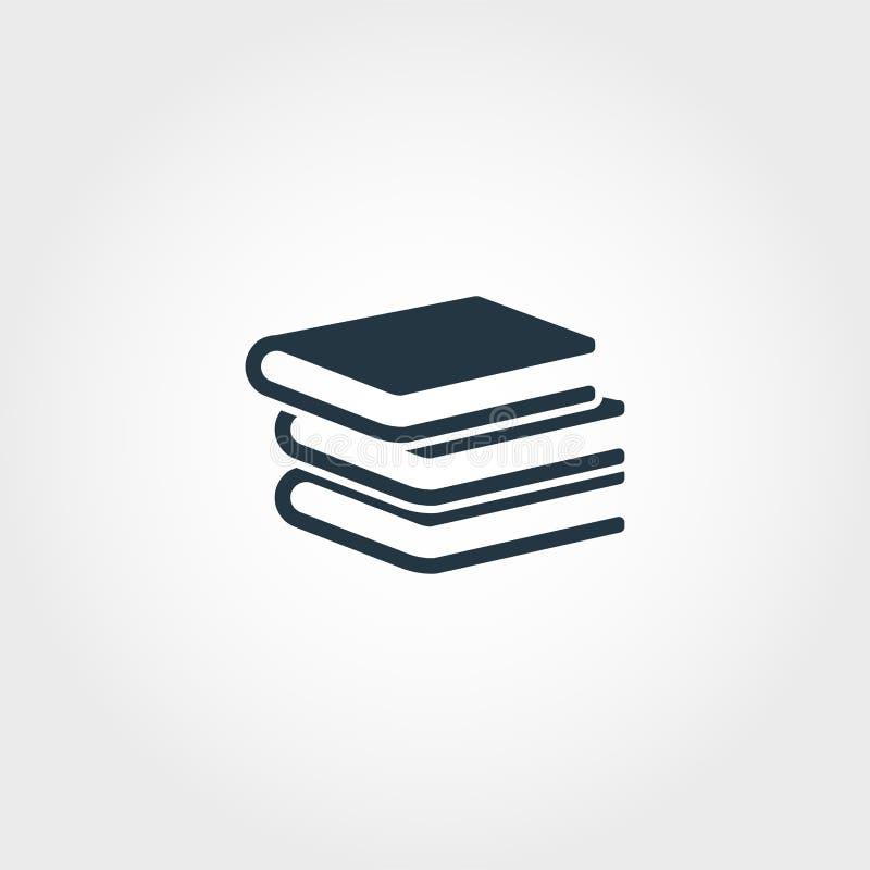 Books icon. Premium monochrome design from education icon collection. Creative books icon for web design and printing usage. Books icon. Premium monochrome royalty free illustration