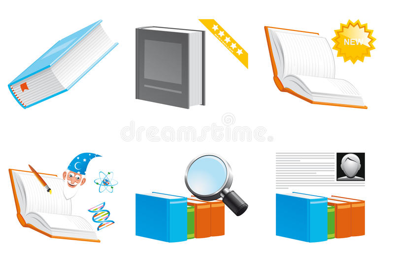 Books icons. Vector illustration Books icons 3d series vector illustration