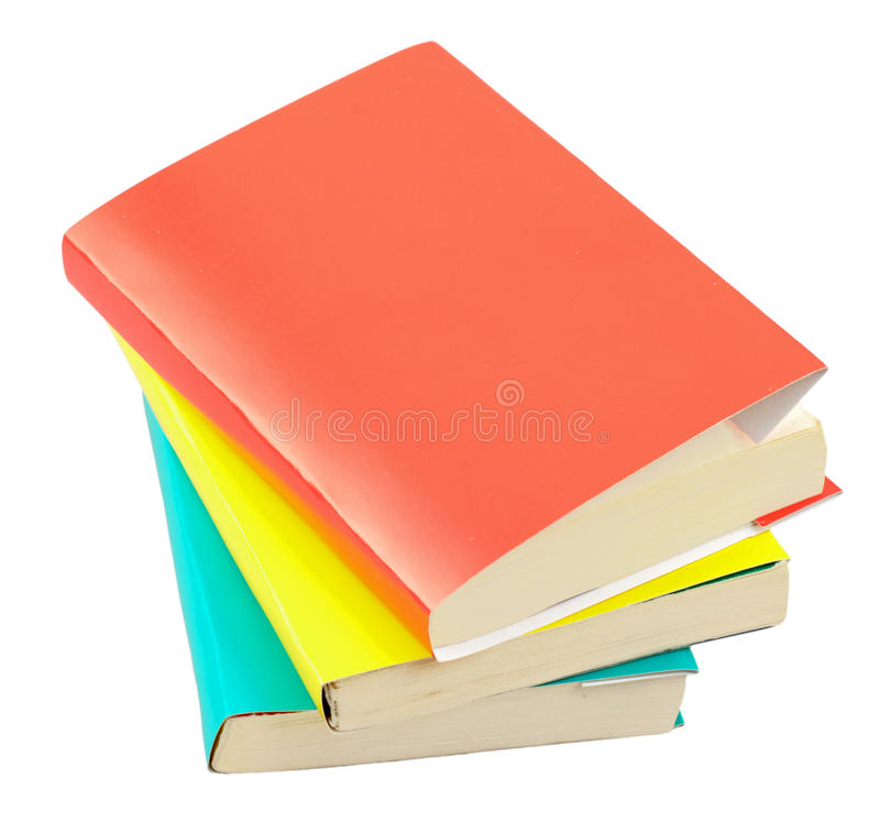 Books isolated royalty free stock photography