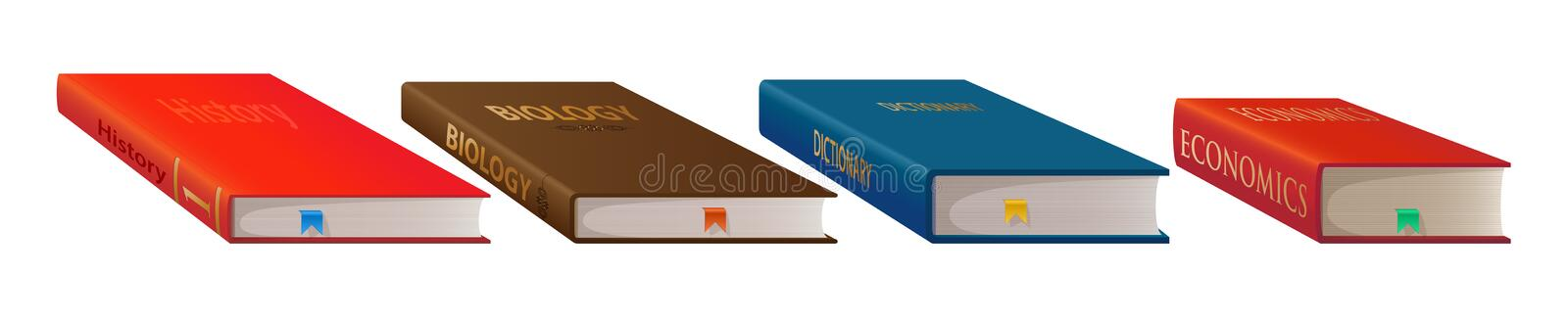 Books isolated of a white background royalty free illustration