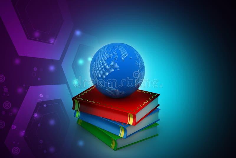books isolerat gammalt för begrepp utbildning royaltyfri illustrationer