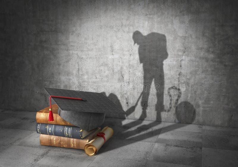 books isolerat gammalt för begrepp utbildning Lära att vara en slav vektor illustrationer