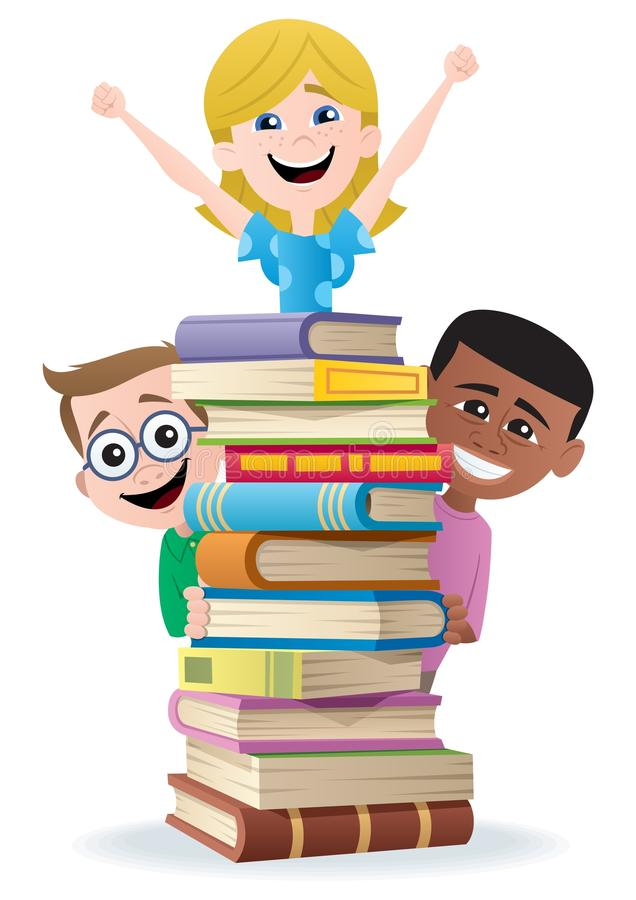 Download Books and Kids stock vector. Image of children, competition - 20762055