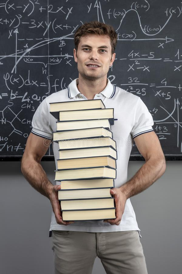 books lärare royaltyfri bild