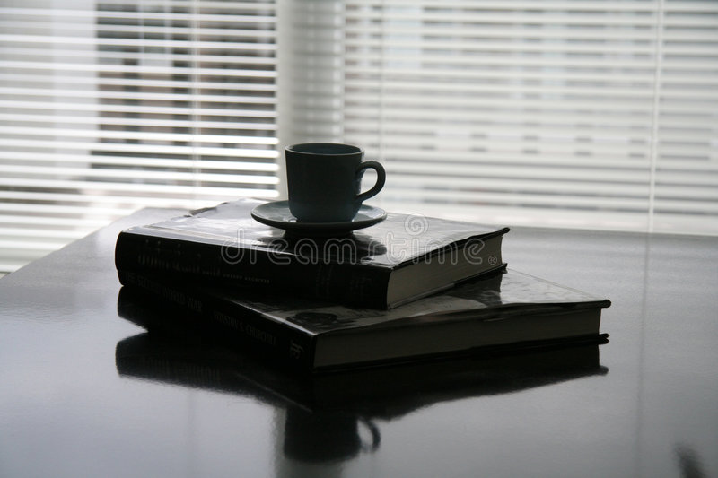 Books lay on the table stock images