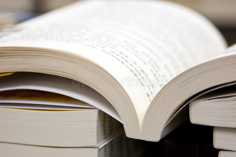 Books in Library stock images