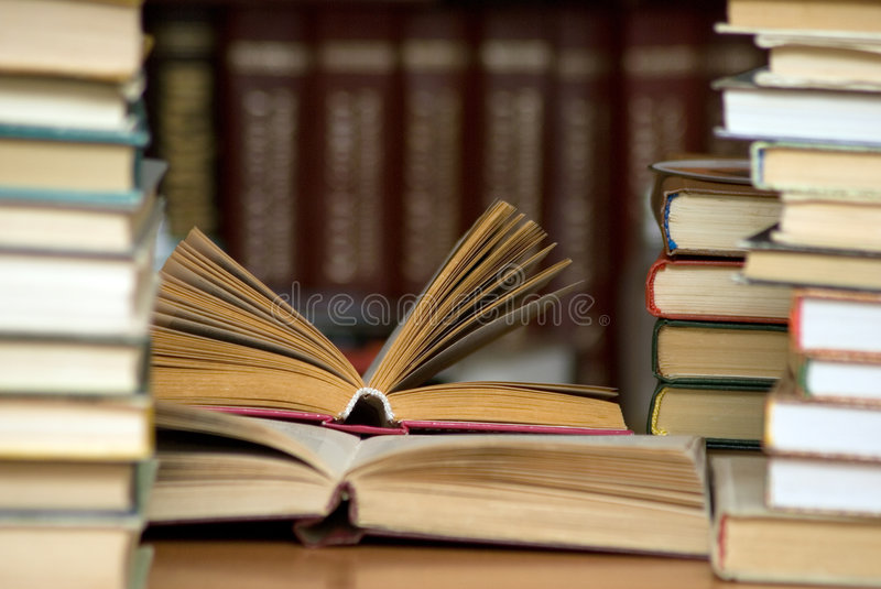 Download Books in the library. stock image. Image of historical - 4278373