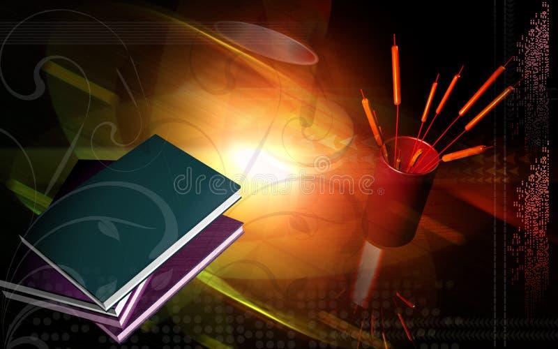 Download Books With Light Background Stock Illustration - Illustration: 7391207