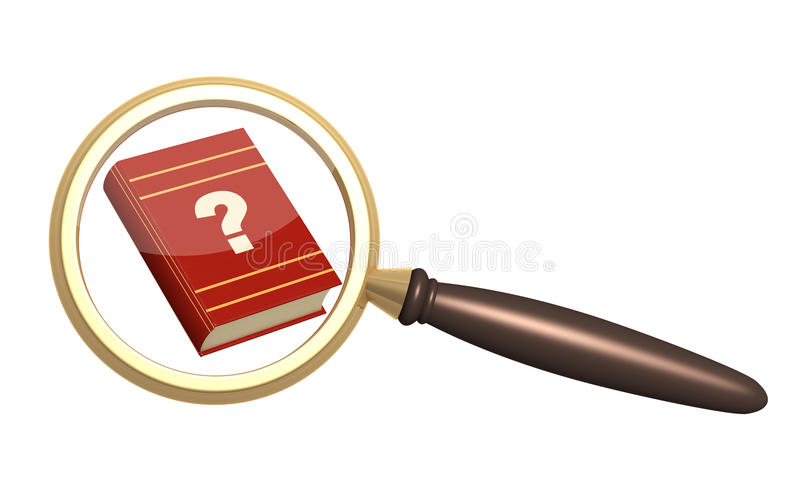 Books and loupe vector illustration