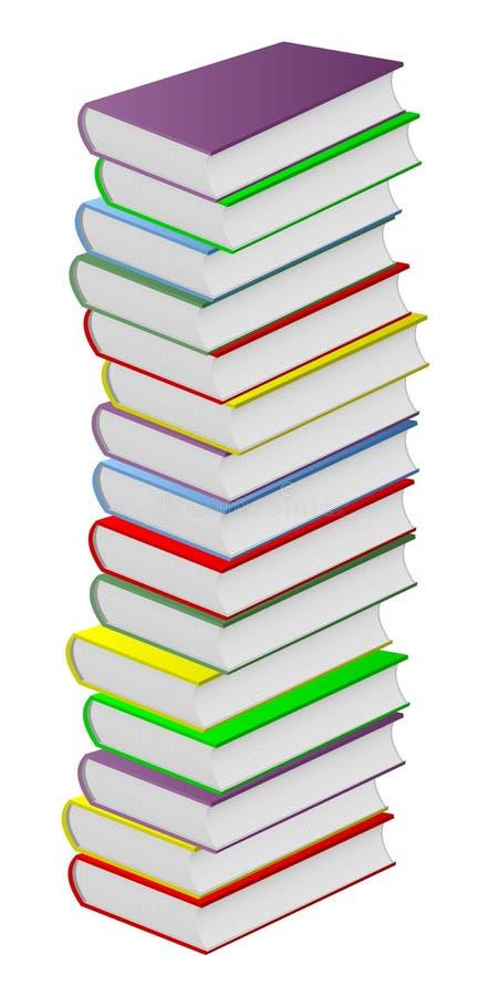 books mångfärgat stock illustrationer