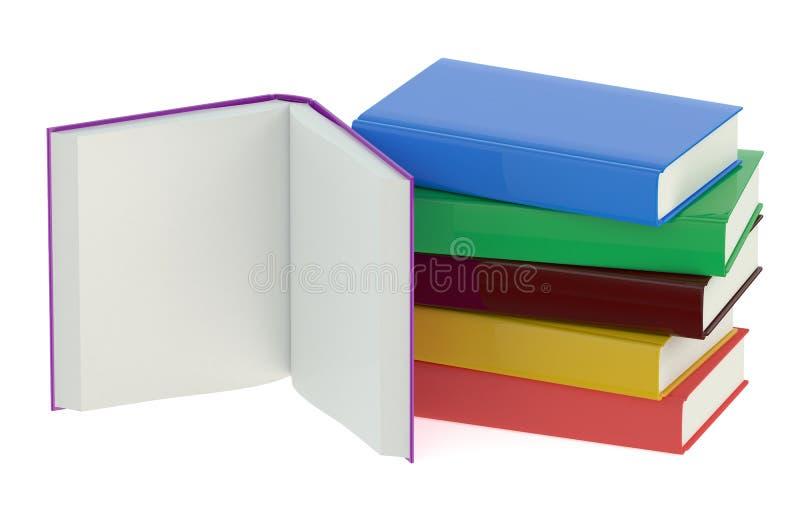 books mångfärgat royaltyfri illustrationer