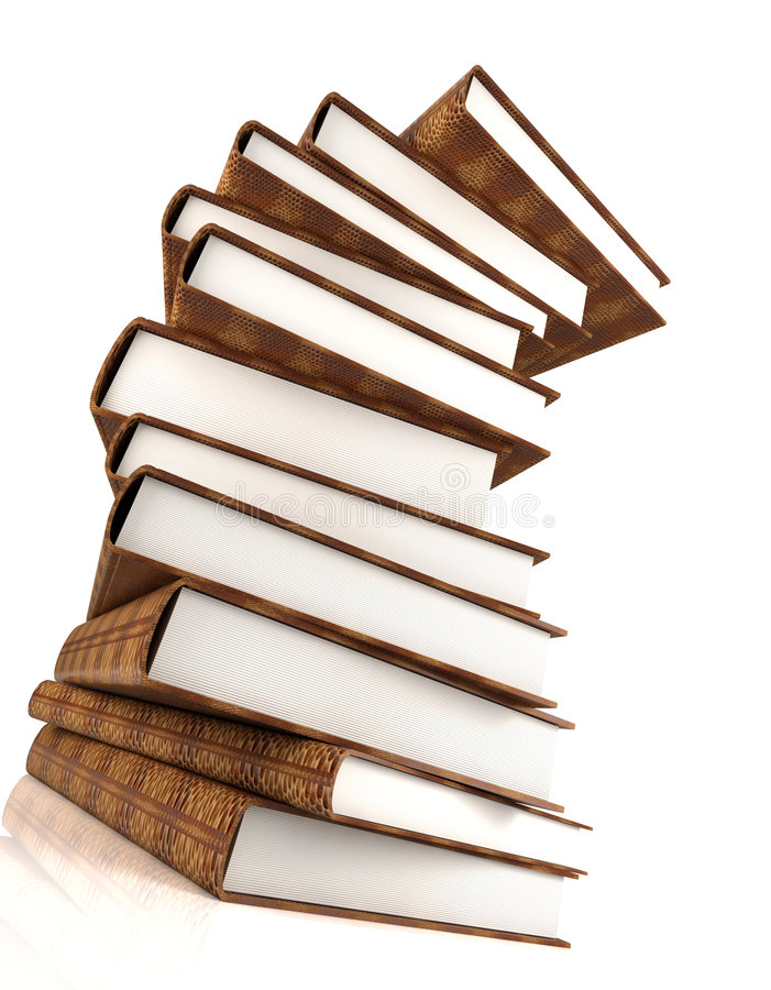 Books massive on white #3 royalty free stock photography