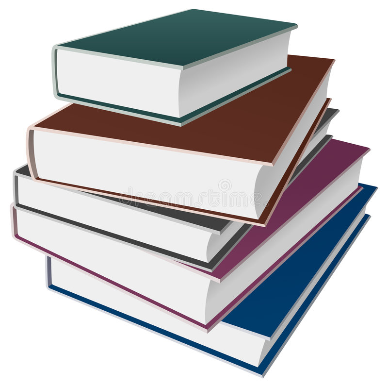 Books / notebooks icon. Isolated objects: some books or notebooks royalty free illustration