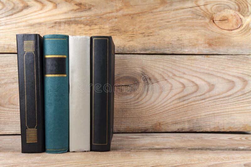 Books on old Bookshelf. Old books on an old, wooden bookshelf stock photography