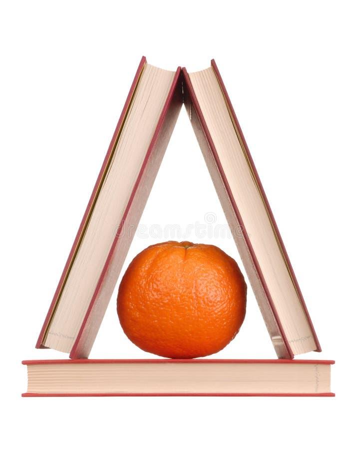 books orangen royaltyfria bilder