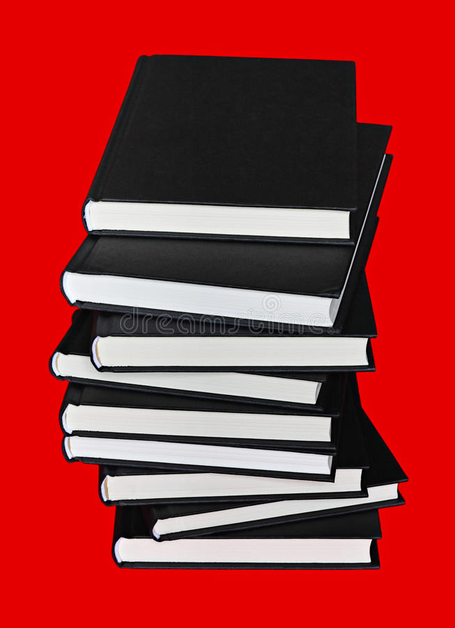 Books Over Red Royalty Free Stock Photo